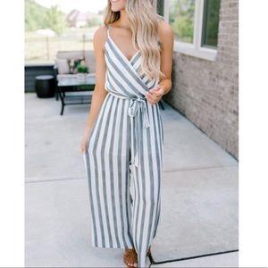 Magnolia Boutique Striped Jumpsuit